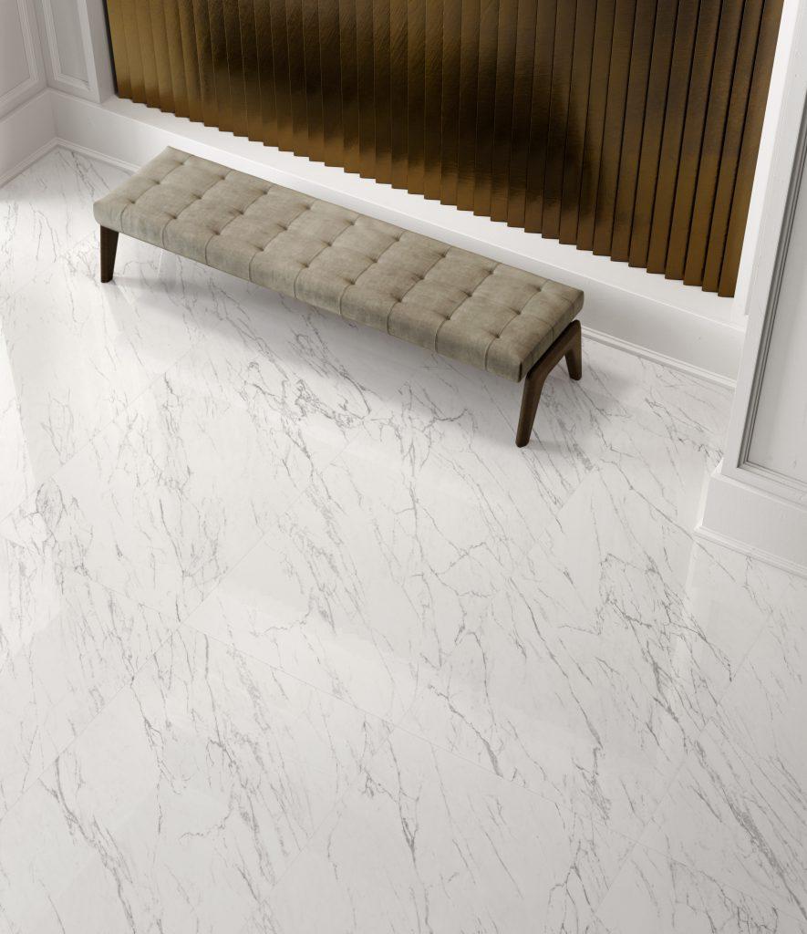 salon avec sol en marbre