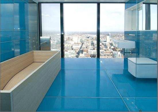salle de bain couleur lagon